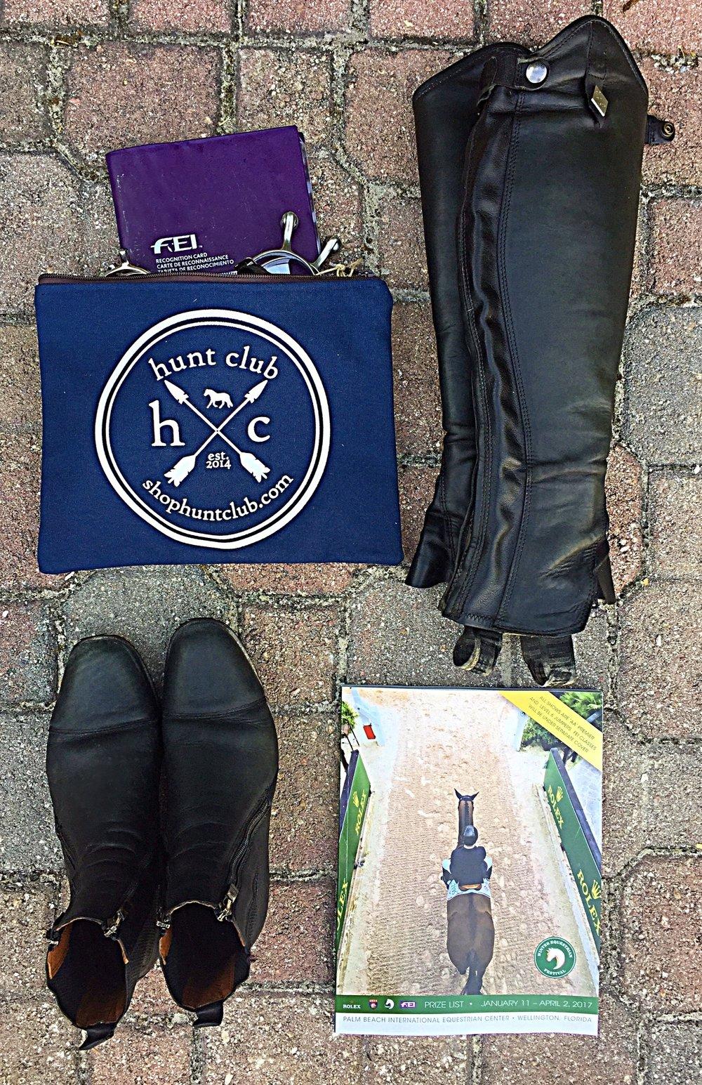 Shown:  Hunt Club Envelope Pouch , F .illi Fabbri Half Chaps & Paddock Boots ,  2016 Winter Equestrian Festival Prize List