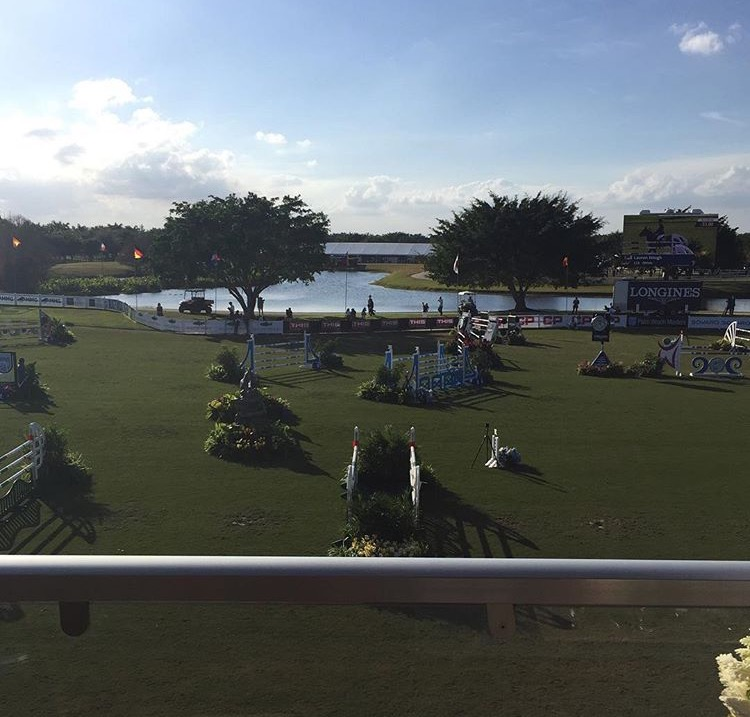 View of the Hollow Brook Wealth Management Grand Prix Ring from the Taylor Harris VIP Club.