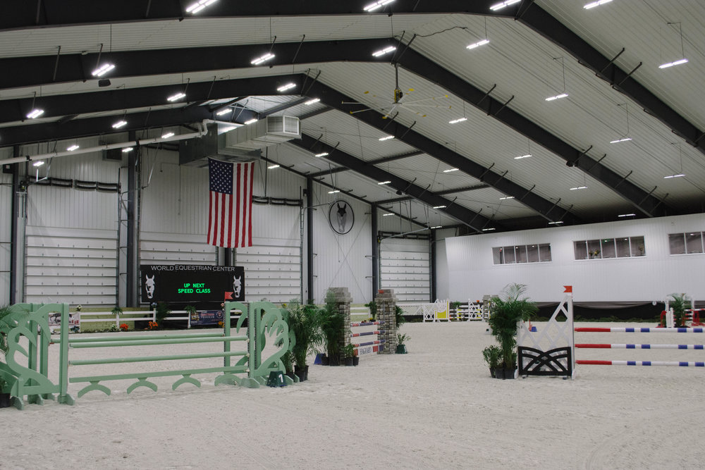 The brand new grand prix ring and multi-purpose jumper ring - called The Sanctuary - is bright, inviting, and undeniably spacious. Everything from puddle jumpers to grand prix classes are held here.