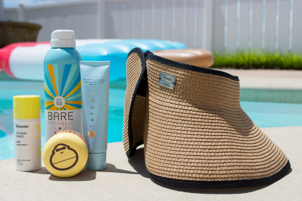 Sometimes you need to up your game when sunscreen alone just isn't enough. Slather on your favorites and don a sun visor or wide-brim hat for 360º protection.