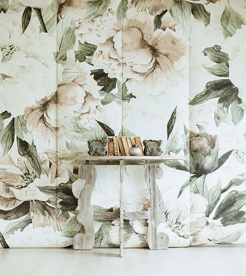 Blush Floral Mural