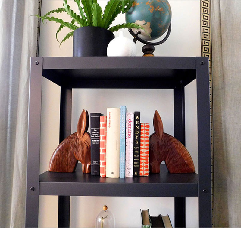 Etsy  is one of my favorite places to find quirky and affordable bookends.