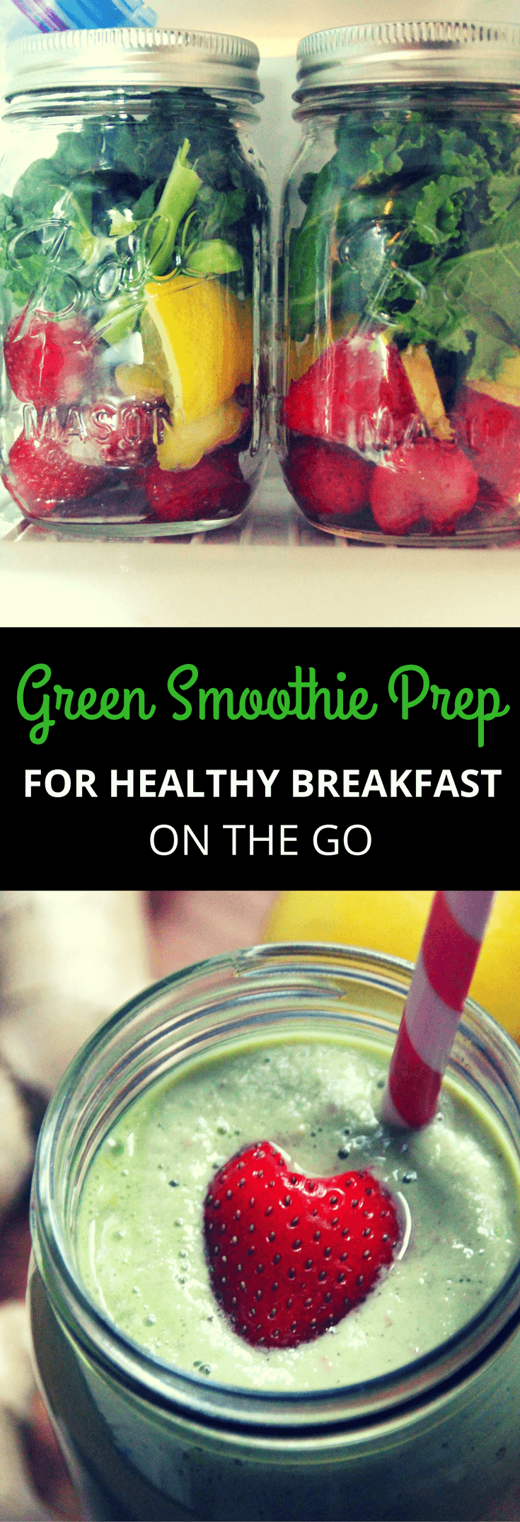 Easy step-by-step prep guide for making green smoothies for weight loss, more energy and glowing skin.  Make ahead a week's worth of healthy breakfast with green smoothie recipes in 20 minutes or less.