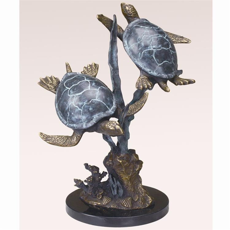 San Pacific International Piece Titled Sea Turtle Duet with Seagrass
