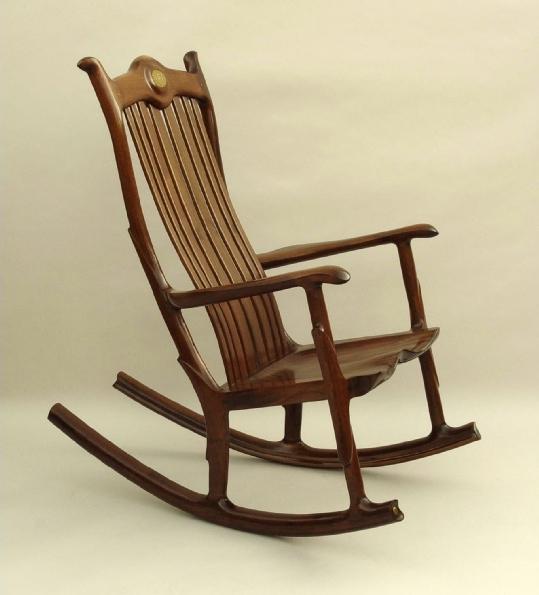 Custom Wood Seat Rocking Chair & Custom Rocking Chairs Handmade Rocking Chairs Handcrafted Rocking ...