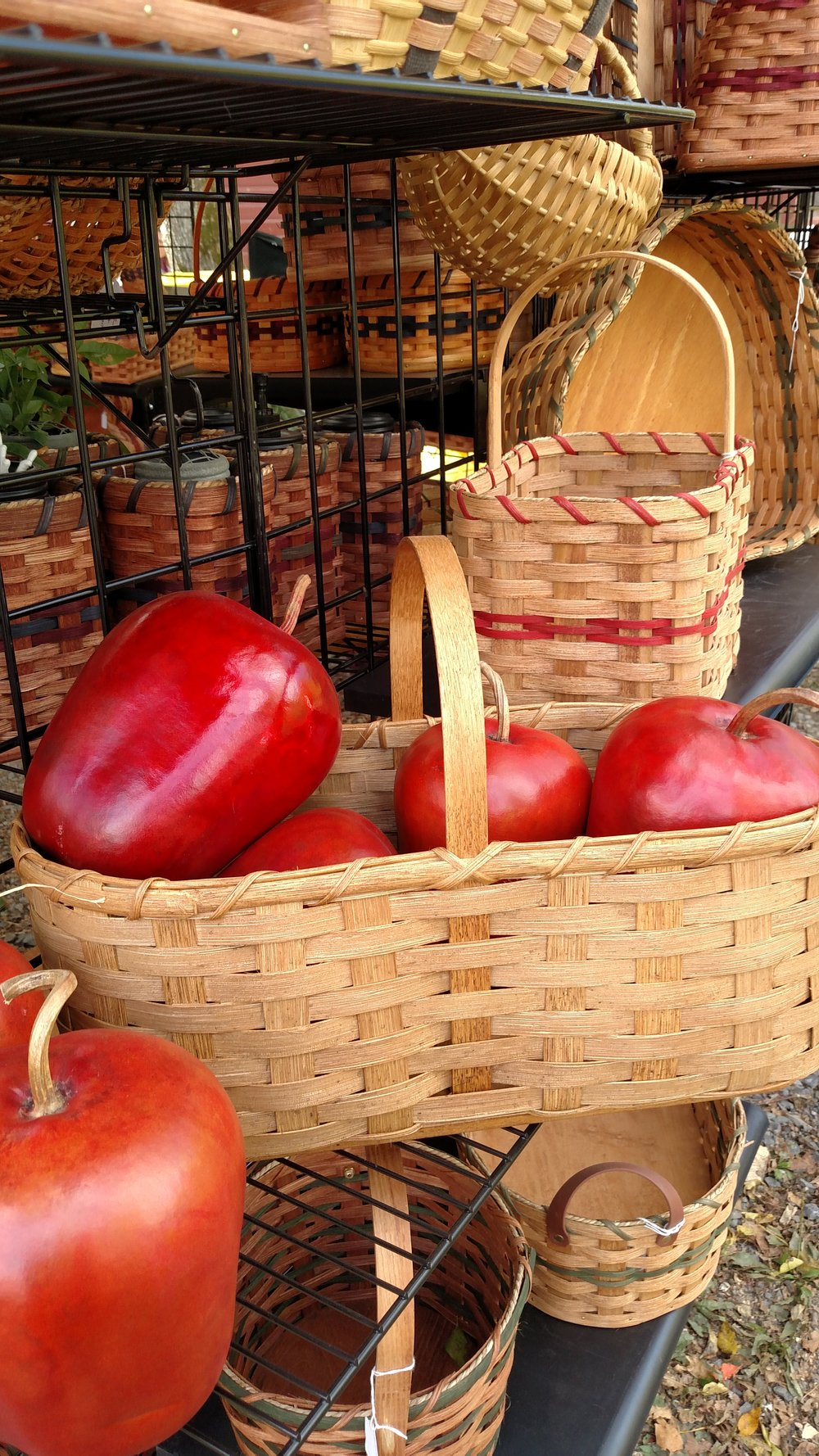 Handmade Baskets with Wooden Apples