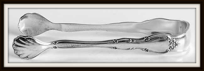 Rose Tiara Sterling Flatware Sugar Tongs by Gorham