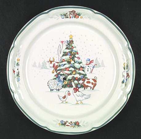 International China Country Christmas Dinner Plate