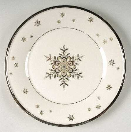 Lenox Solitaire Christmas Luncheon Plate