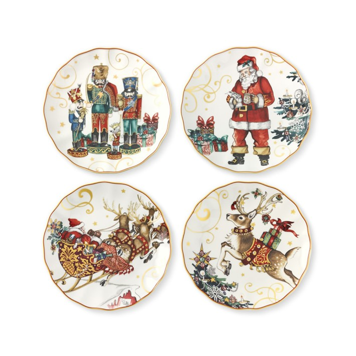 Williams Sonoma Twas the Night Before Christmas Salad Plates  sc 1 st  Arielle and Archer & Celebrate: 20 Christmas Plates to Make Your Table a Standout ...