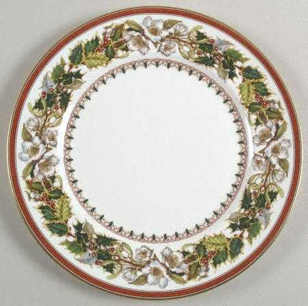 Spode Christmas Rose Dinner Plate & Celebrate: 20 Christmas Plates to Make Your Table a Standout ...