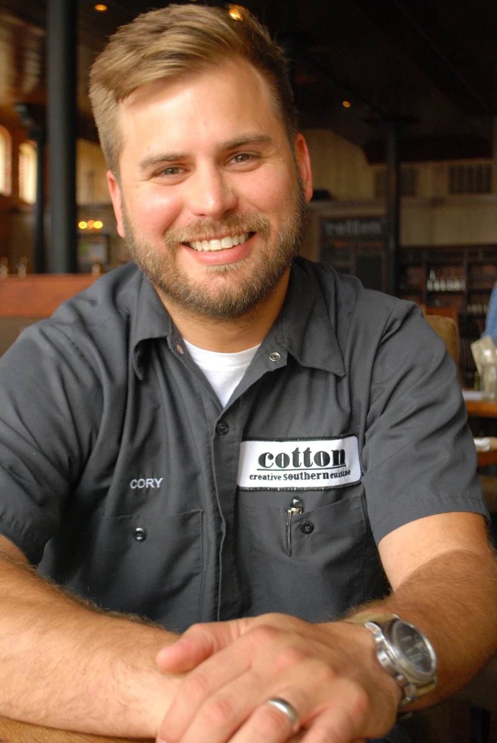 Chef Cory Bahr Owner of Restaurant Cotton and Nonnas in Monroe, Louisiana