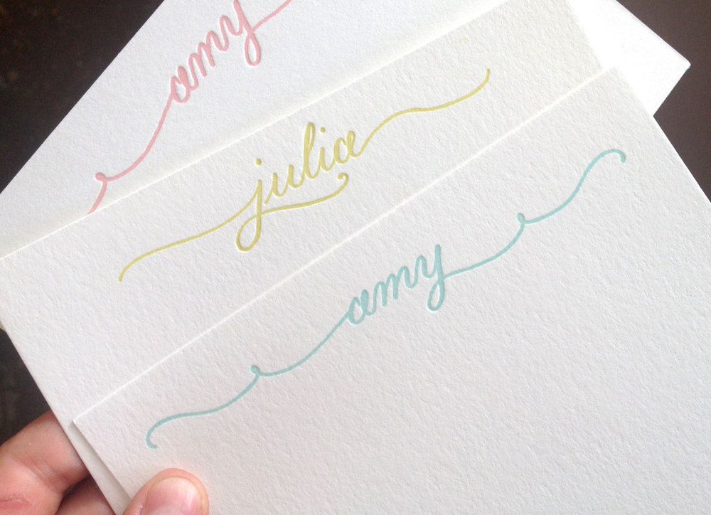 The Southern Letterpress Calligraphic Note Cards