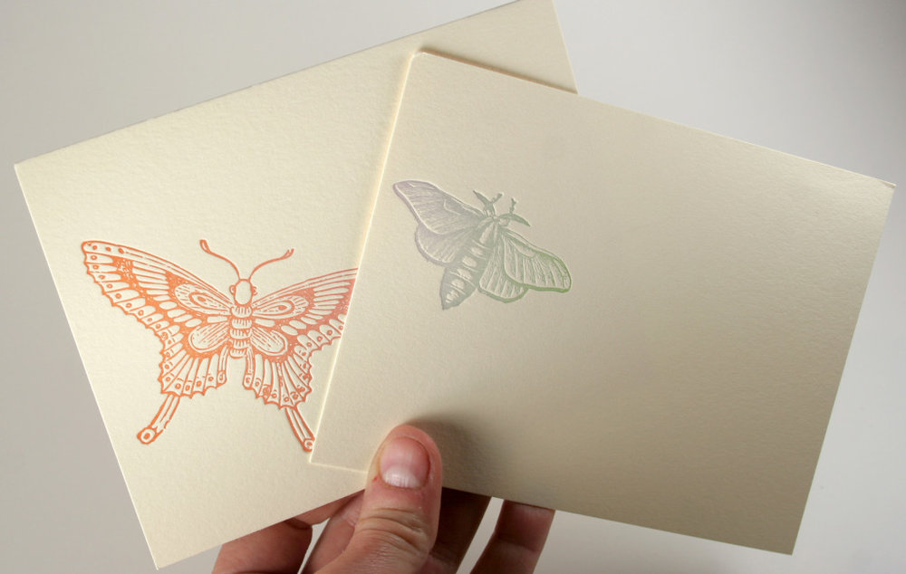 The Southern Letterpress Custom Envelopes Imprinted with Butterflies