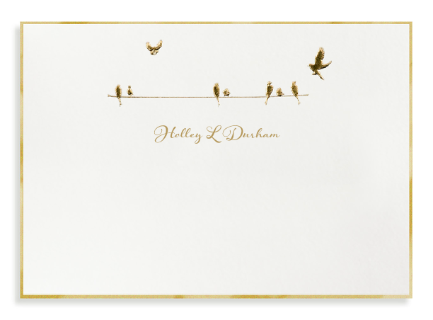 Bell' Invito Birds on a Wire Gold Note Card