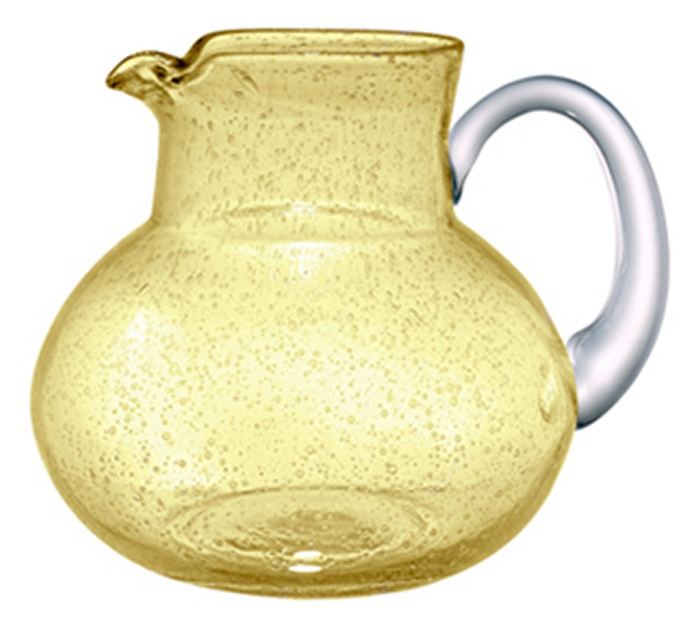Pretty Seed Glass Sweet Tea Pitcher in Citrine