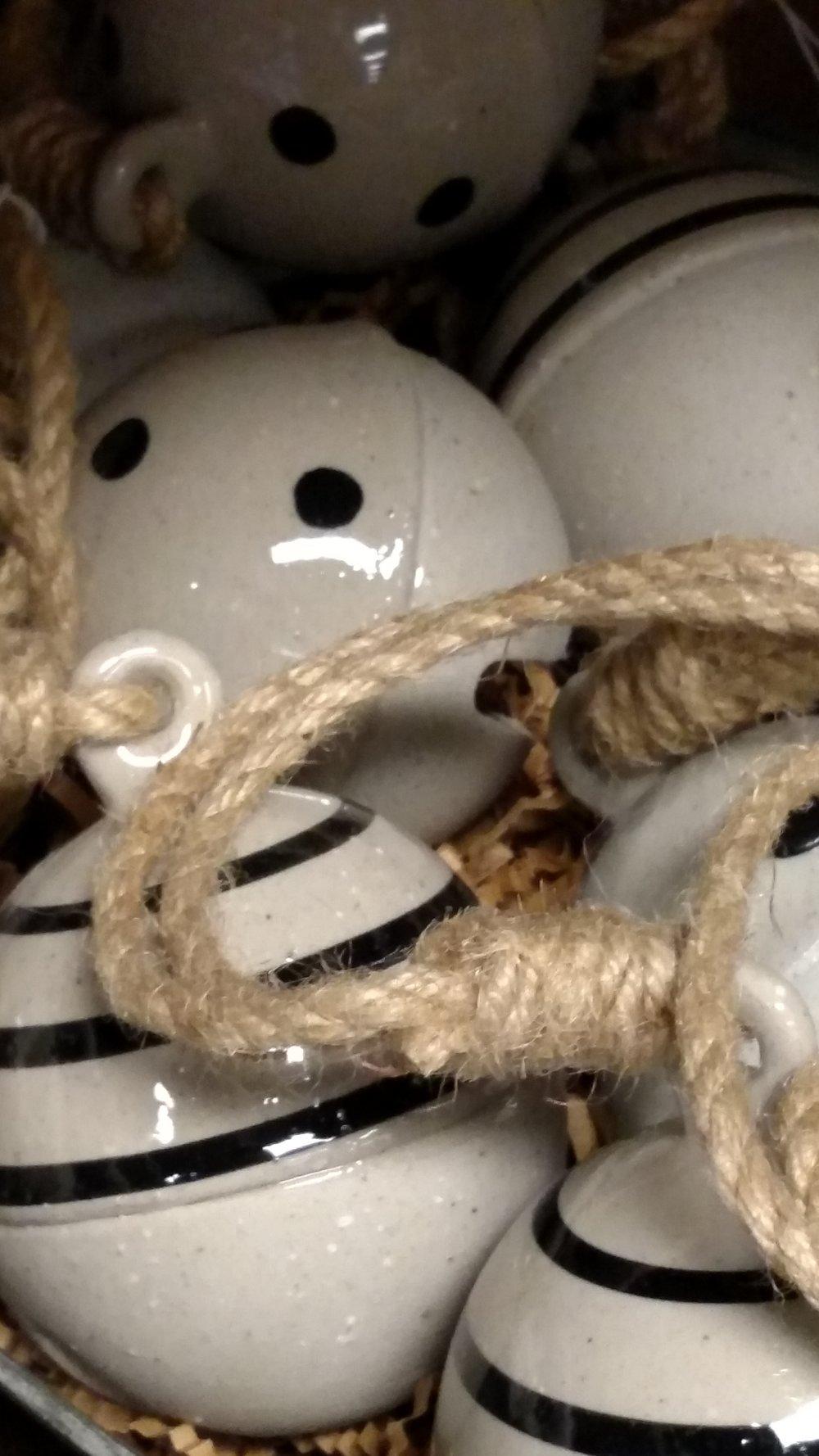 Beautiful Handmade Ceramic Christmas Bells