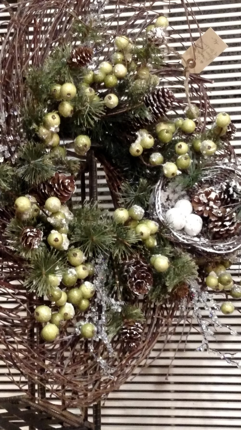 Pretty Twig, Apple, Pine Cone and Bird's Nest Wreath