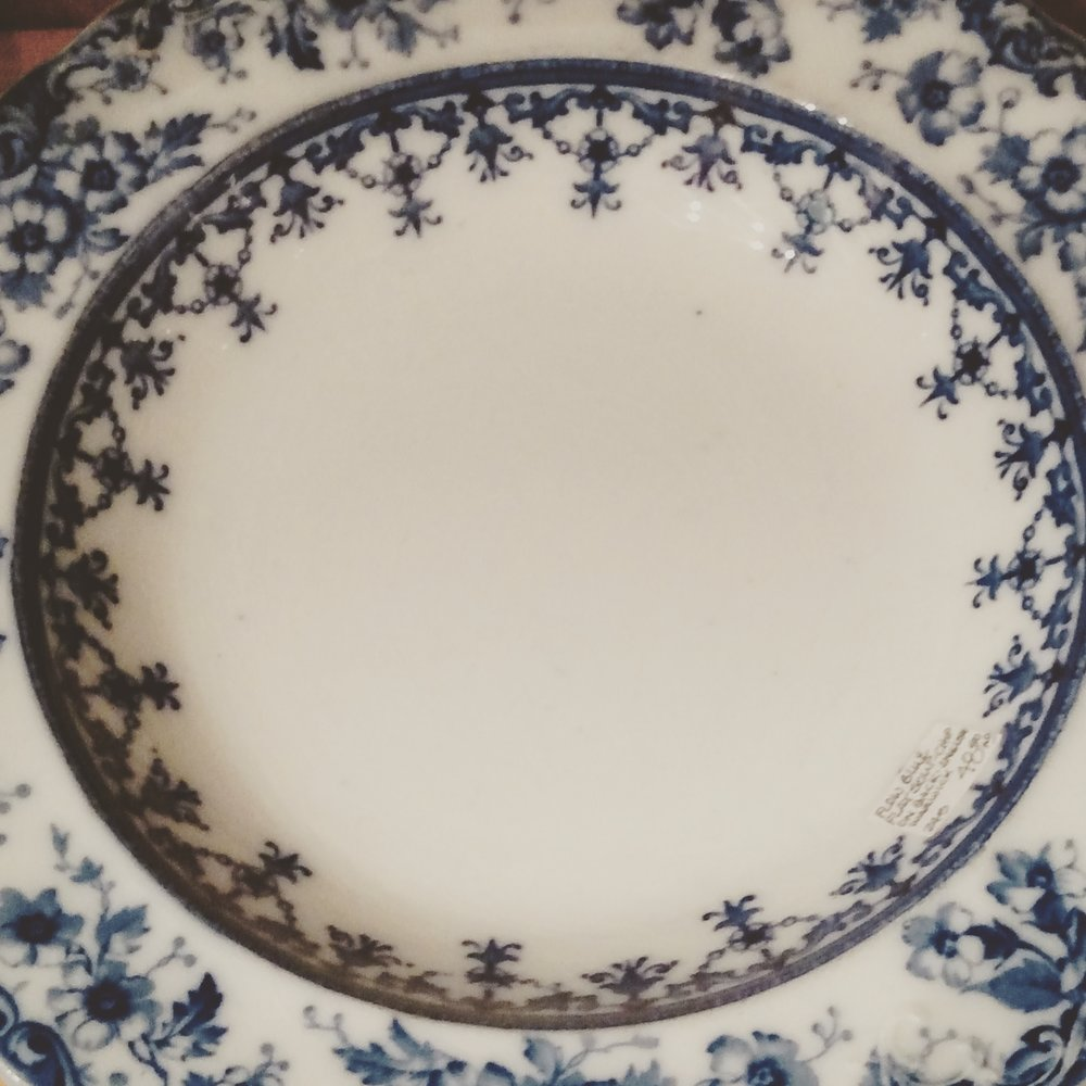 Flow Blue China Bowl (Not for Christmas, but who could Resist?)