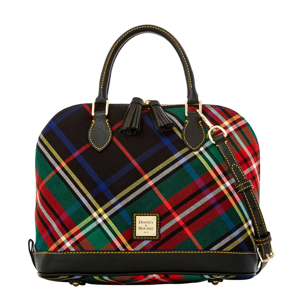 Tartan Zip Satchel by Dooney and Bourke