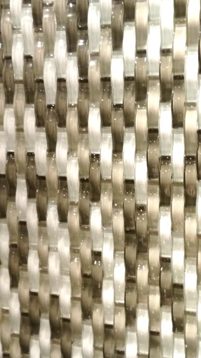 Closeup of the beautiful Basket Weave Tiles