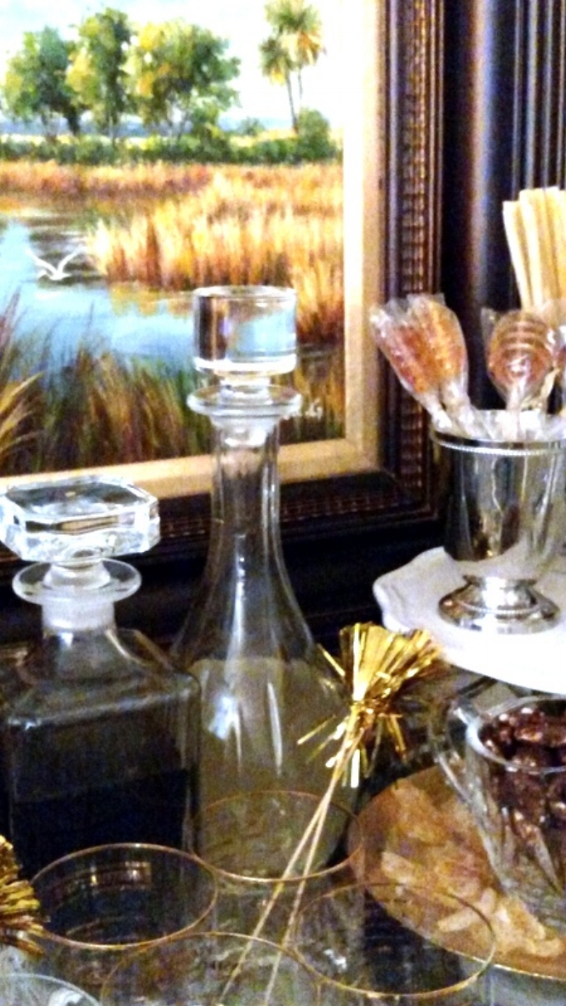 Crystal Decanters add a lovely sparkle