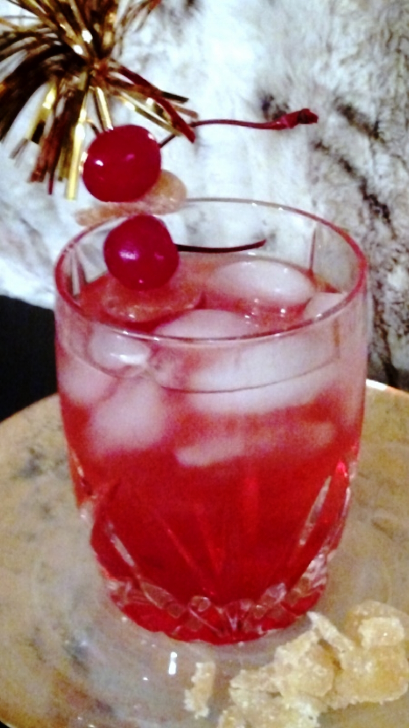 Bourbon Cherry Ginger Fizz
