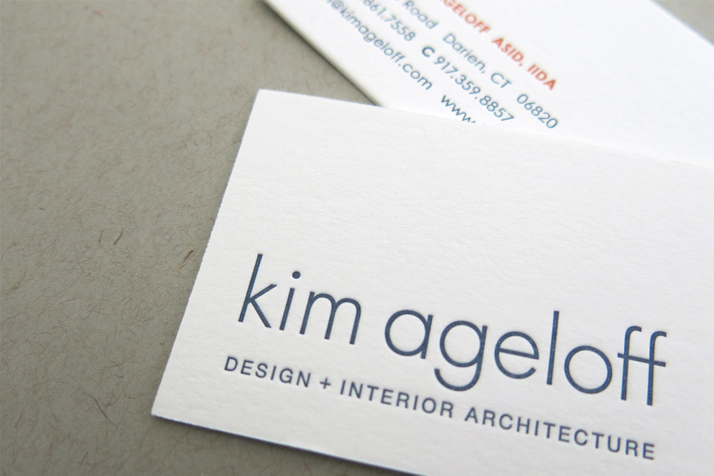 Two-Sided, Letterpress Business Card