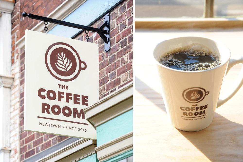 The Coffee Room Signage and Mugs