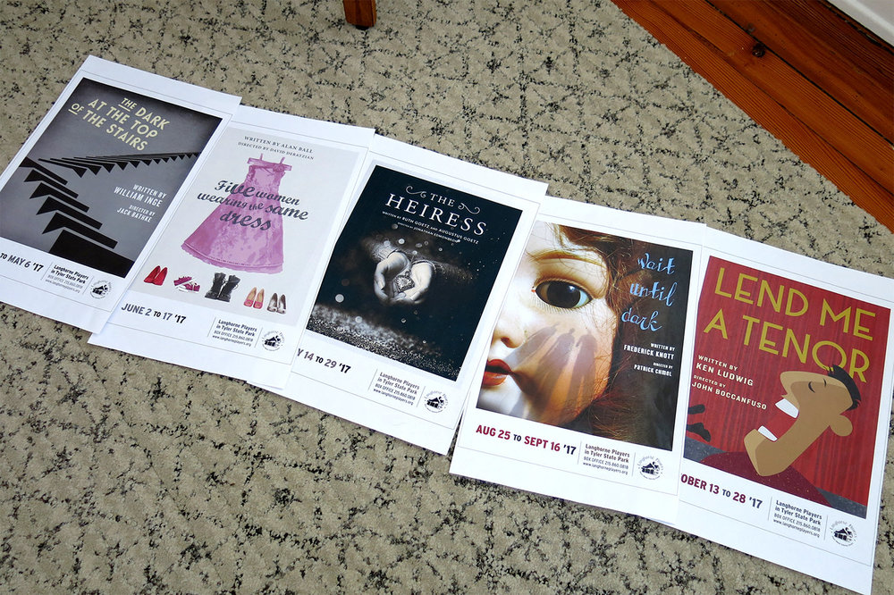 Before producing these 36 x 48 posters, we proofed the posters at a much smaller size to check color and typography.