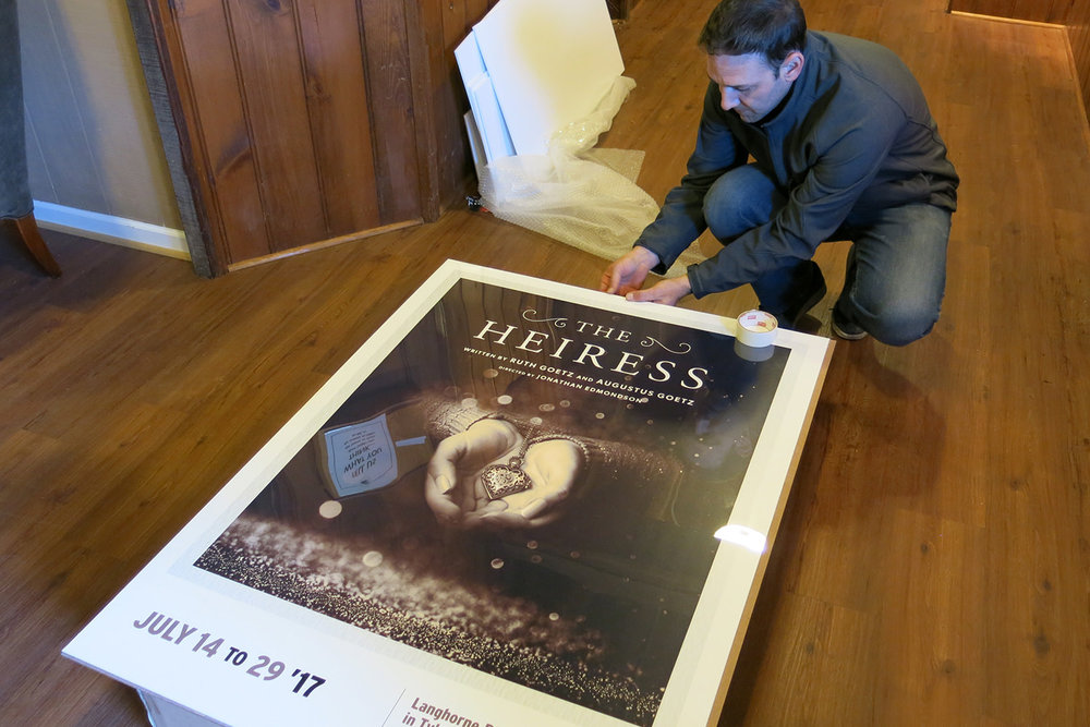 Installing  The Heiress  during the 2017 Season at Langhorne Players Theater