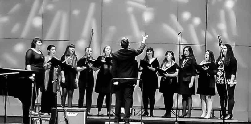 Conducting a performance of  i carry your heart with me  November 2014