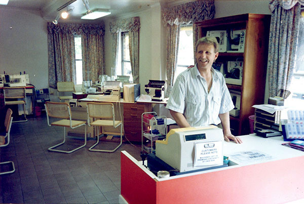 Heinz Leuenberger in the 90's. providing the people of Adelaide all of their sewing needs.