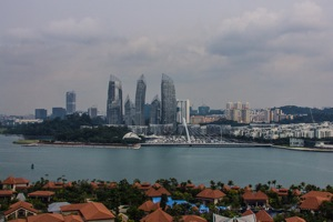Sentosa looking to Singapore mainland