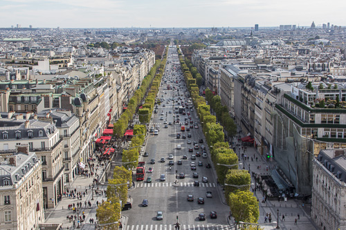 Paris Arc De Triomphe view 1
