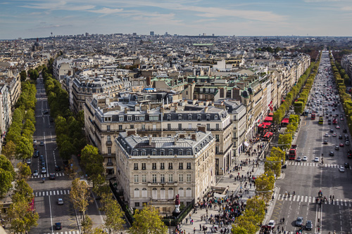 Paris Arc De Triomphe view 2