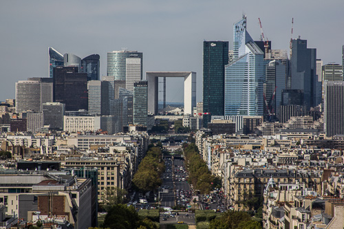 Paris Arc De Triomphe view 4