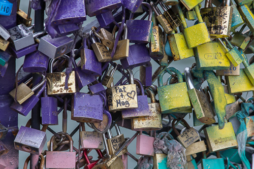 Paris Bridge Love Locks 2
