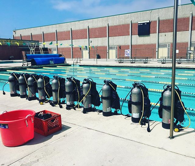 Let's Dive! #edisonhighschool #leftcoastscuba #scuba #scubadiving #divelife