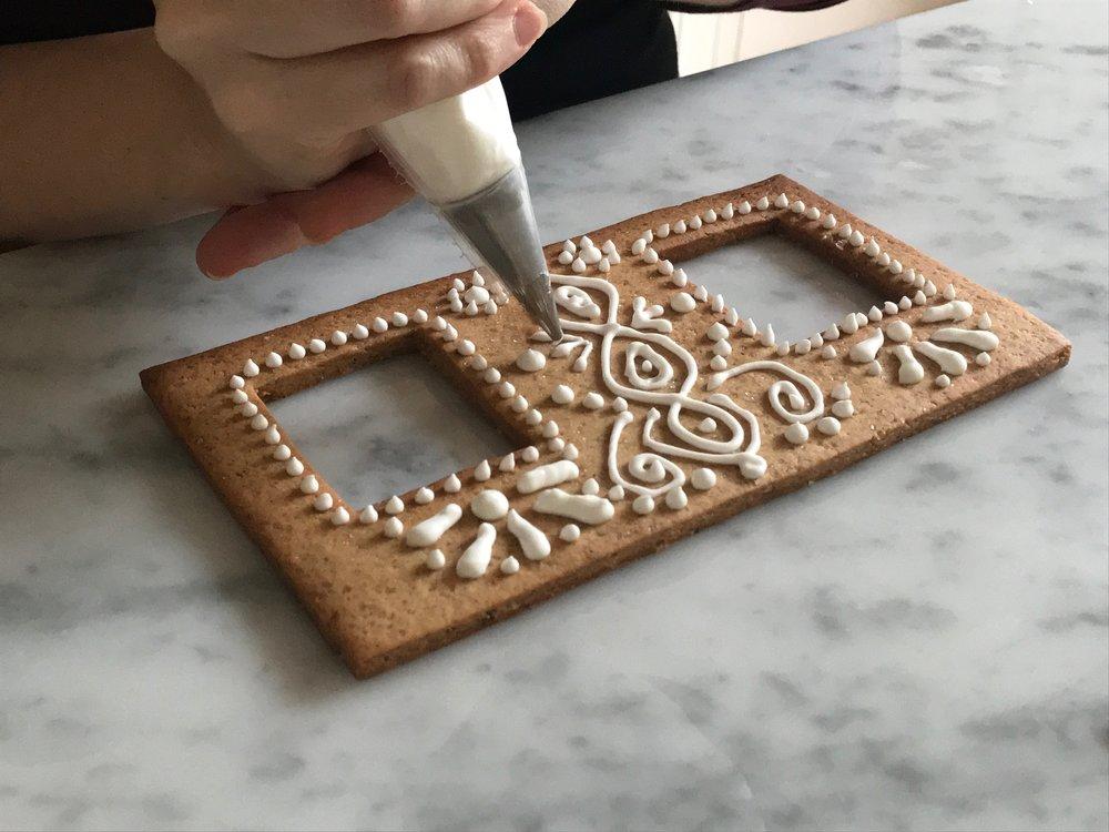 Maison en pain d'épices (idée de décoration)