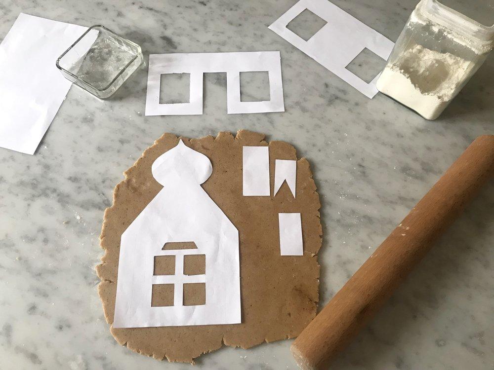 Maison en pain d'épices (découpe des gabarits)