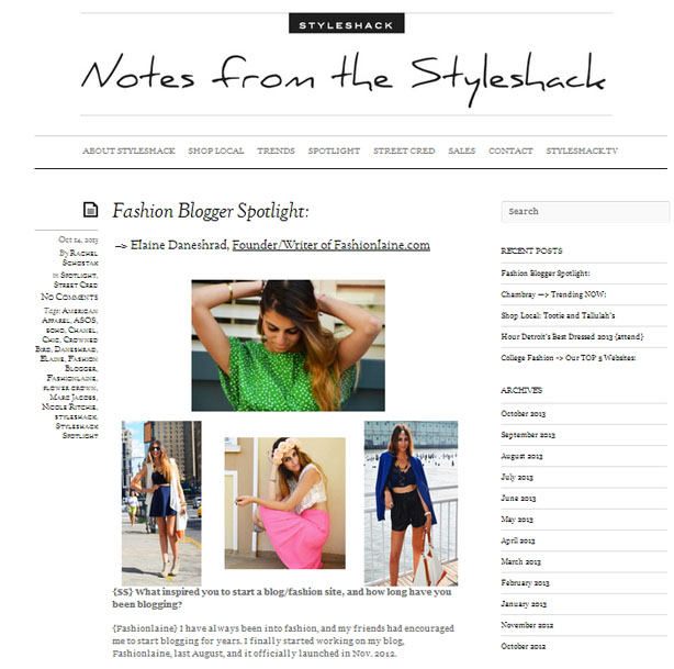 fashion blogger spotlight