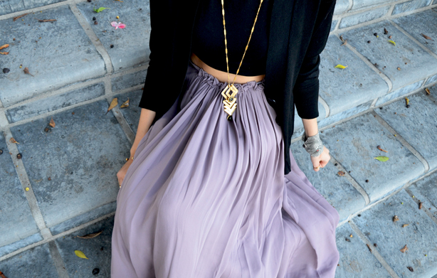 Long Skirts and Necklaces
