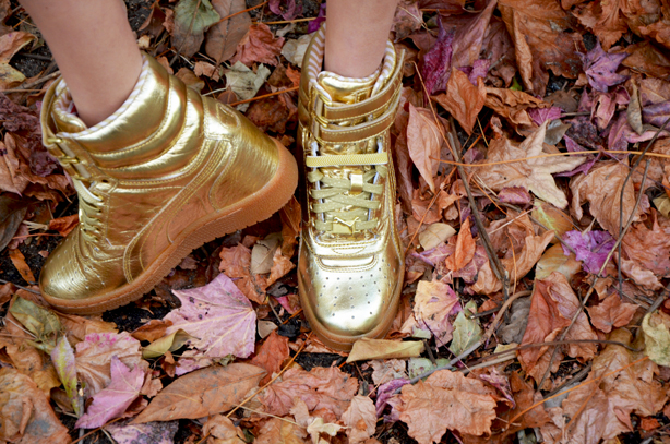 Gold Sneakers