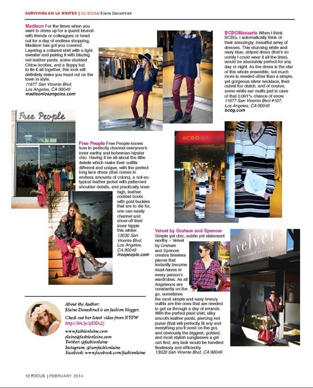 Fashion Blogger Magazine Feature