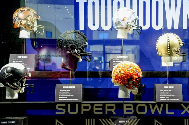 Bloomingdales CFDA Super Bowl Helmets