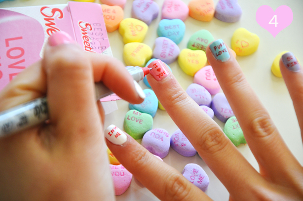 diy valentine's day nails