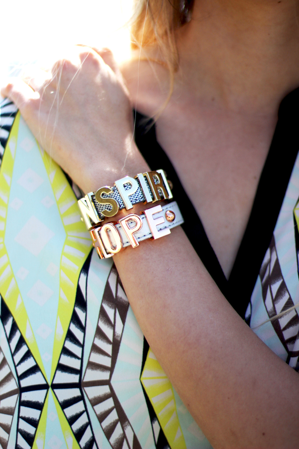 bcbgeneration affiramtion bracelets