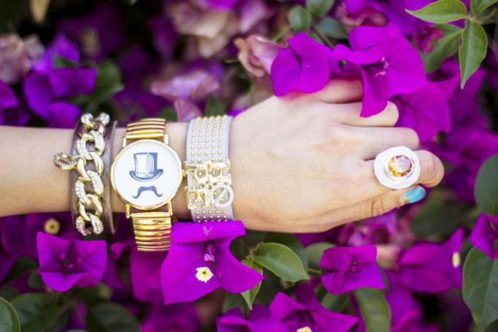 arm of bracelets