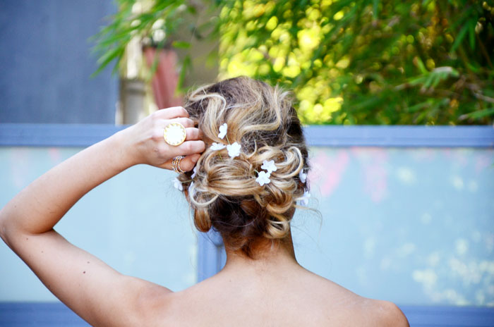 floral wedding updo